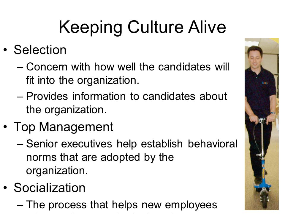 Keeping Culture Alive Selection Top Management Socialization
