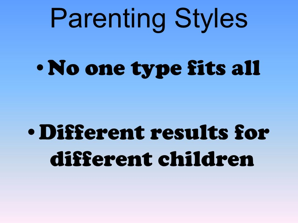 Different results for different children