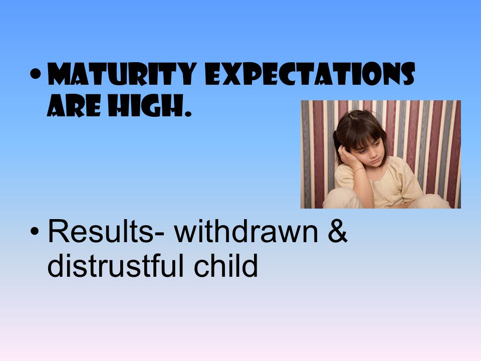 Results- withdrawn & distrustful child