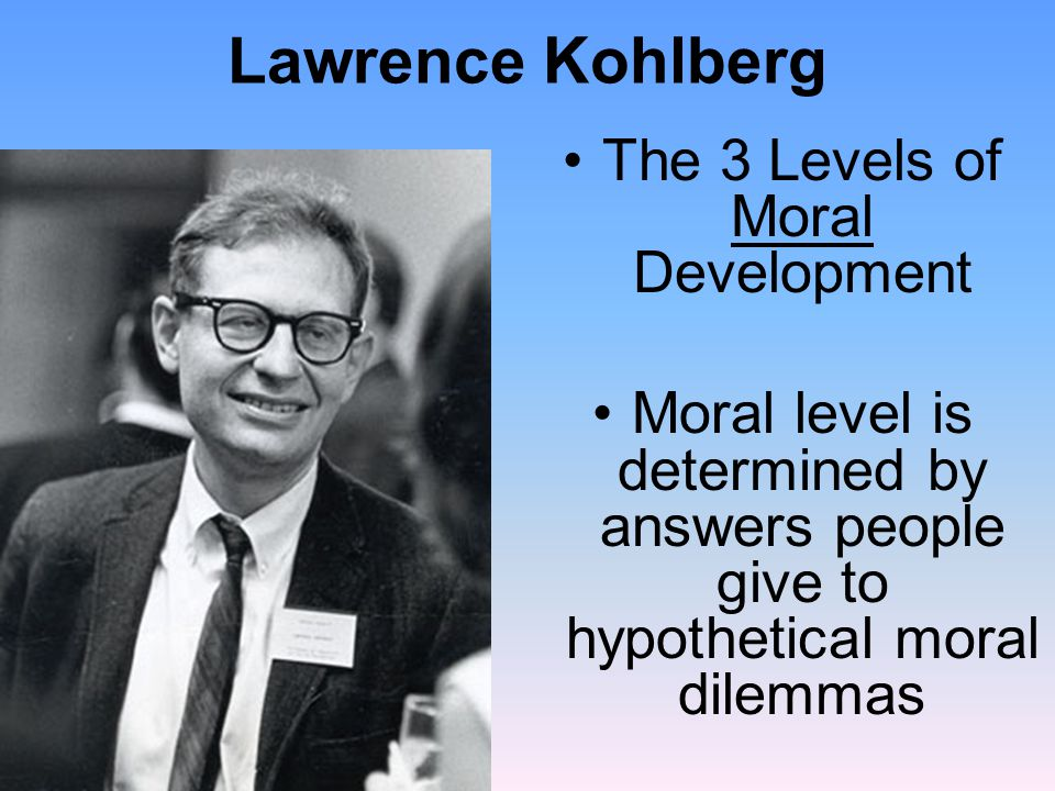 The 3 Levels of Moral Development