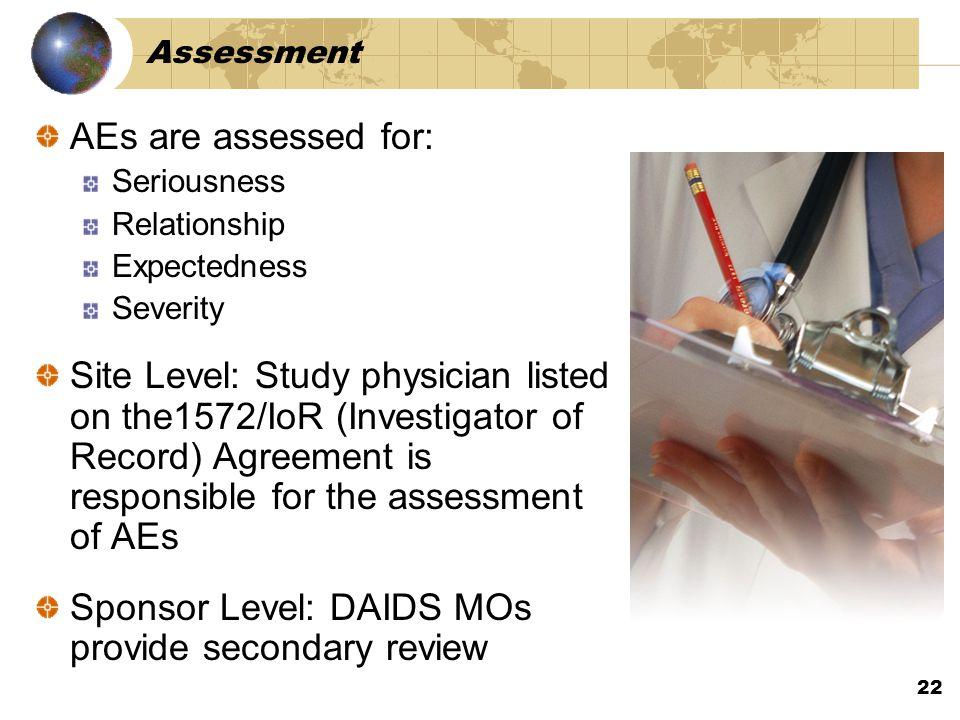 Sponsor Level: DAIDS MOs provide secondary review