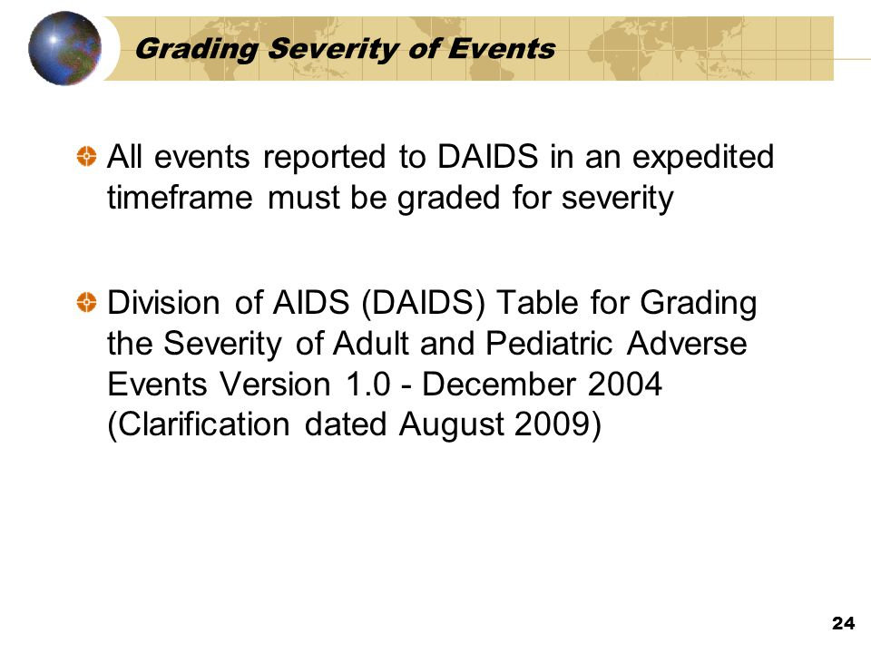 Grading Severity of Events