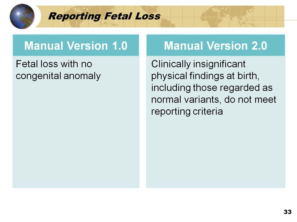 Reporting Fetal Loss