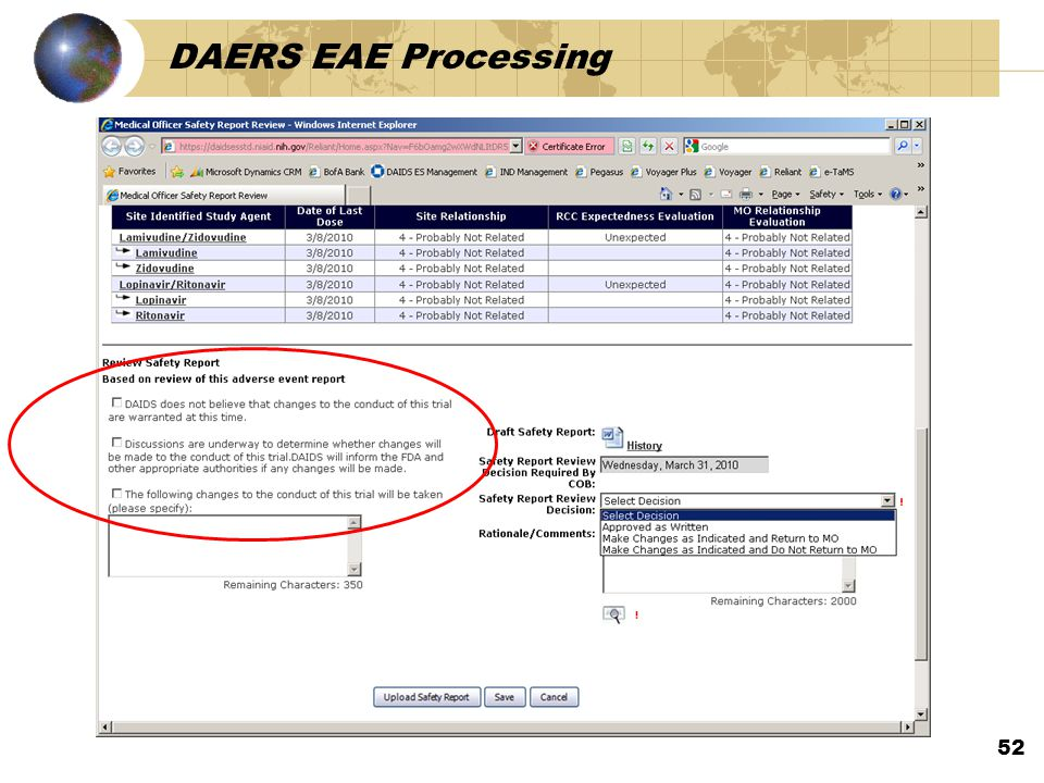 DAERS EAE Processing