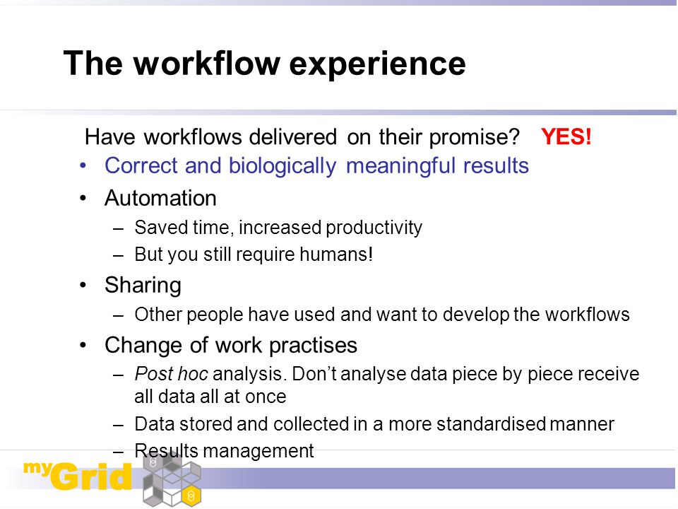 The workflow experience