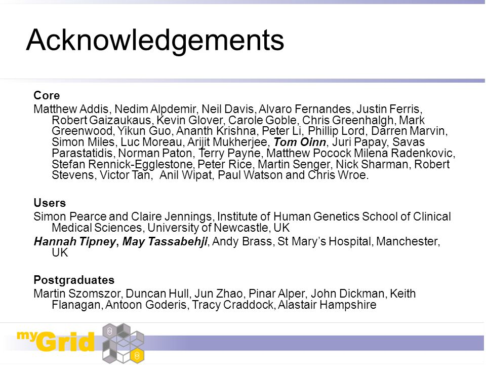Acknowledgements Core