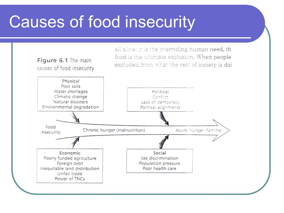 Causes of food insecurity