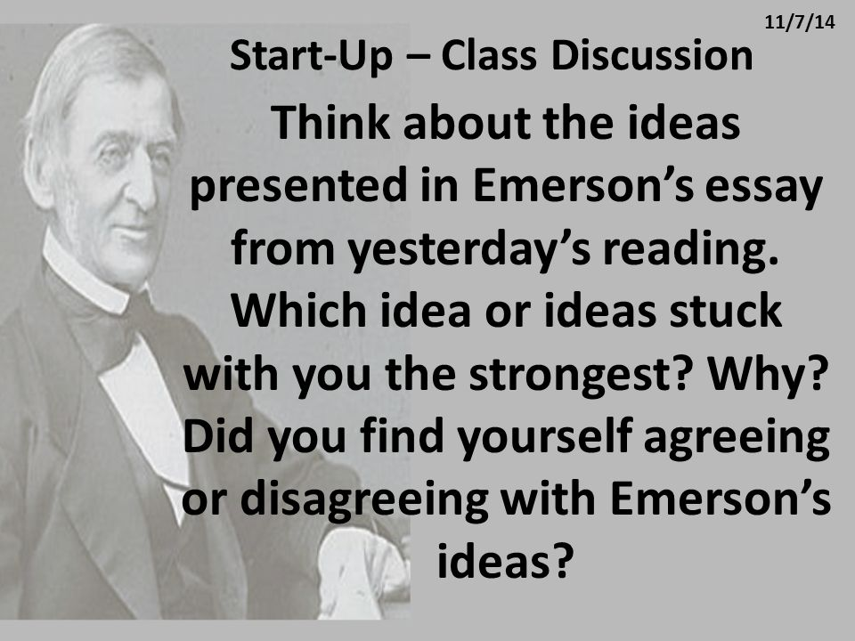 Start-Up – Class Discussion