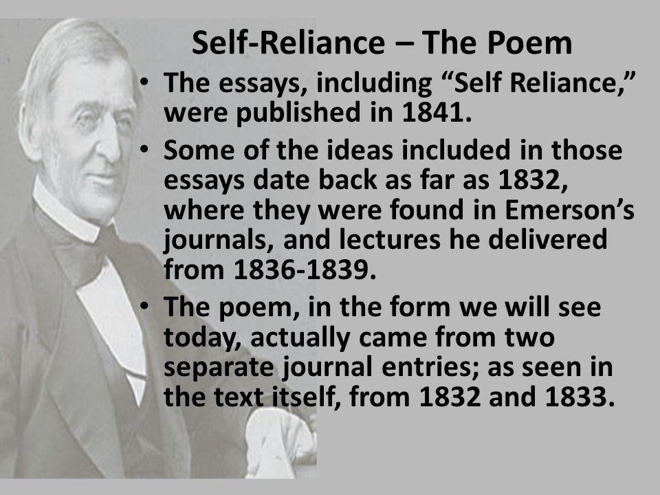 Self-Reliance – The Poem