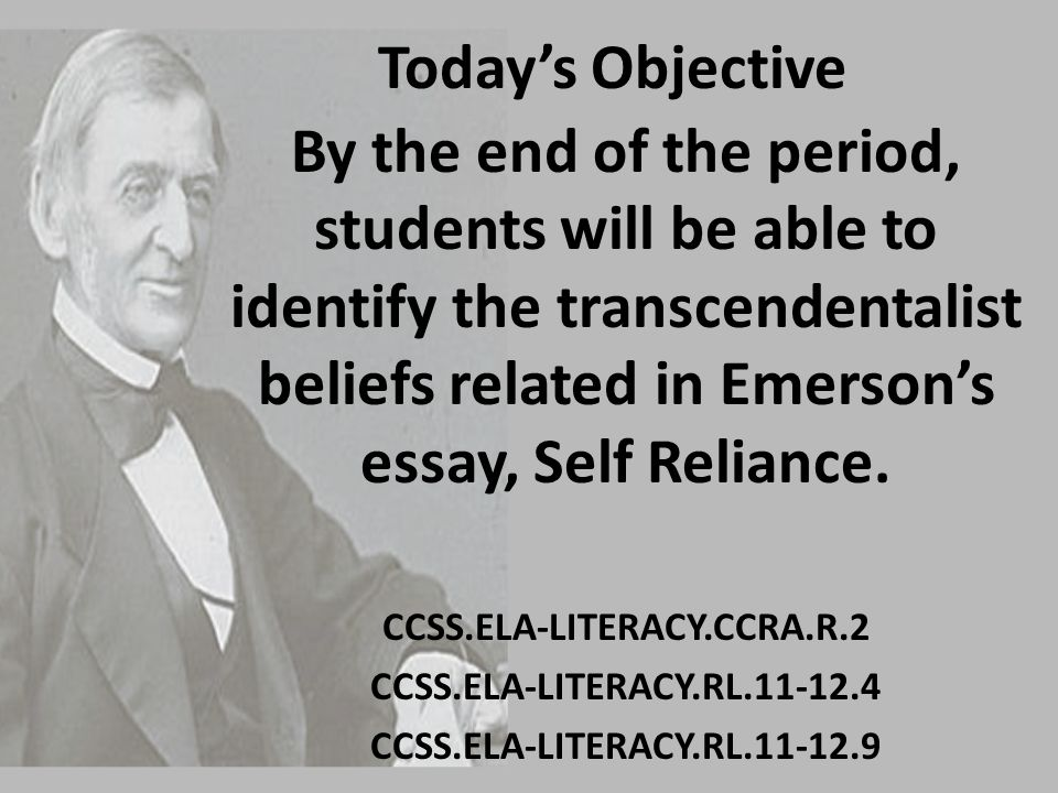 ralph waldo emerson and frederick douglas in relation to self reliance essay Assignments english 2130 ralph waldo emerson's nature: how does emerson conceive of nature and beauty ralph waldo emerson's self-reliance.