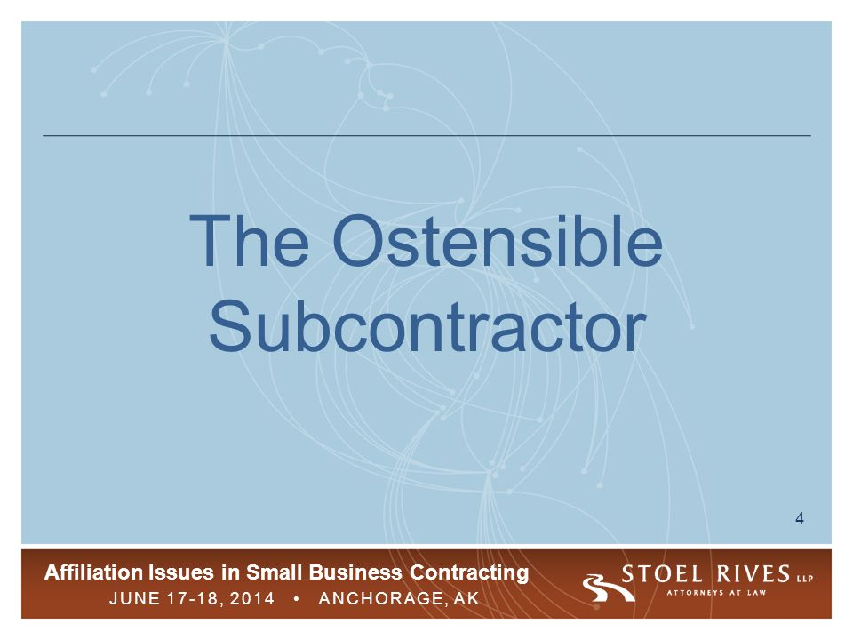 The Ostensible Subcontractor