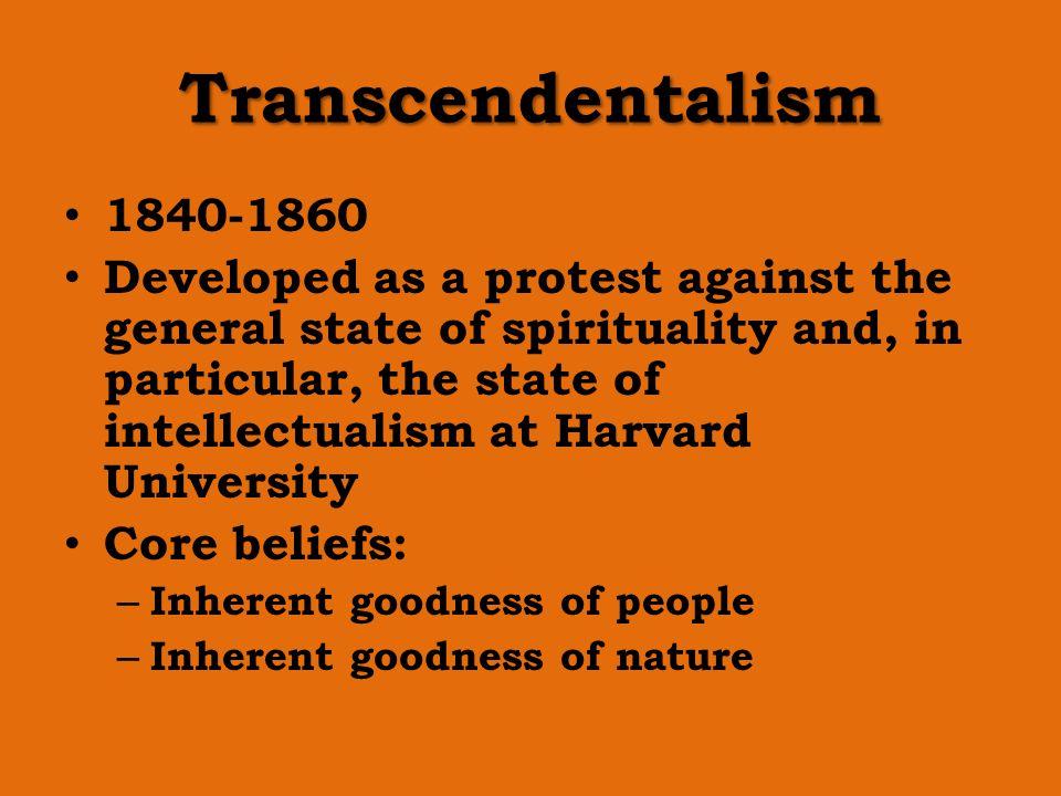 Transcendentalism 1840-1860.