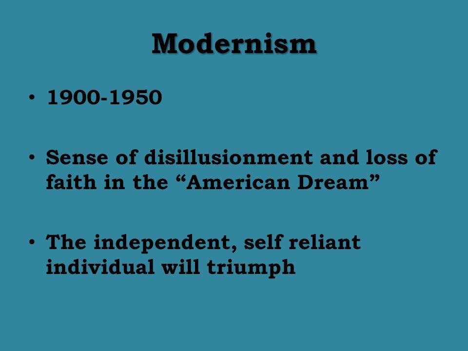 Modernism 1900-1950.