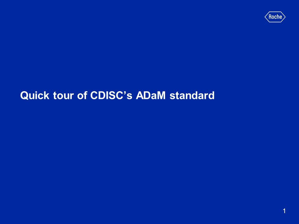 Quick tour of CDISC's ADaM standard