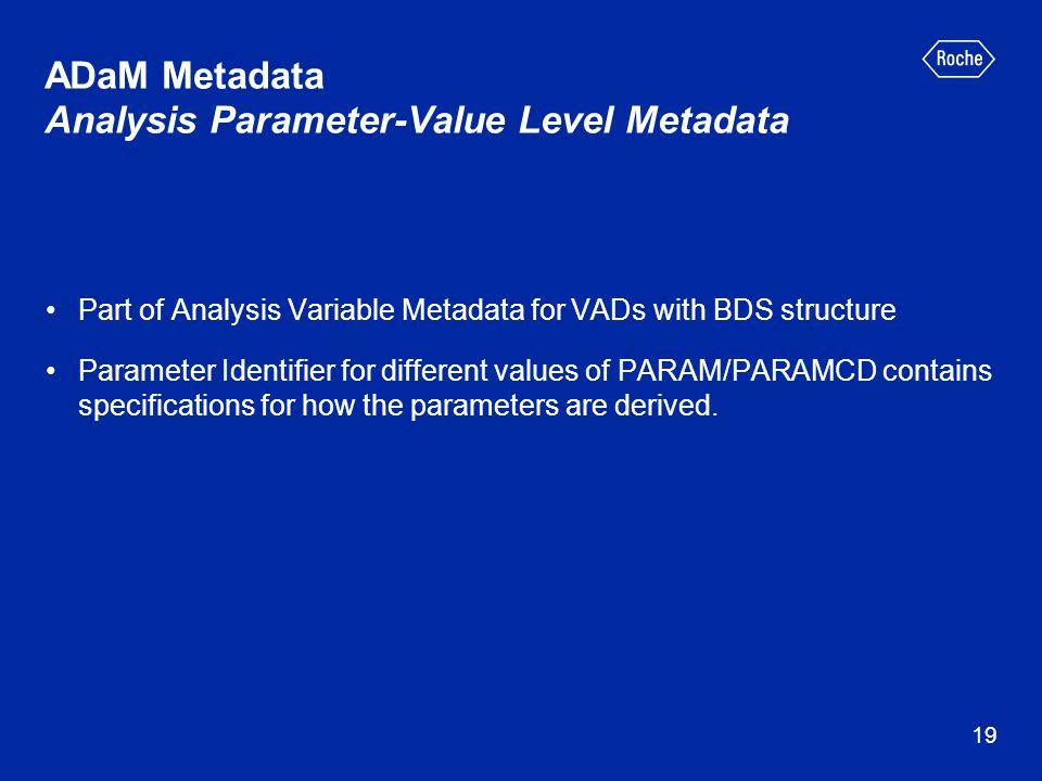 ADaM Metadata Analysis Parameter-Value Level Metadata