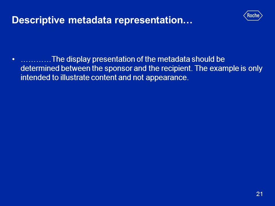 Descriptive metadata representation…