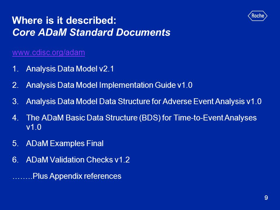 Where is it described: Core ADaM Standard Documents