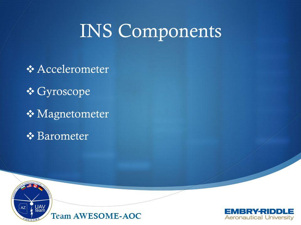 INS Components Accelerometer Gyroscope Magnetometer Barometer