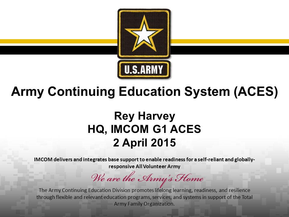 Army Continuing Education System (ACES)