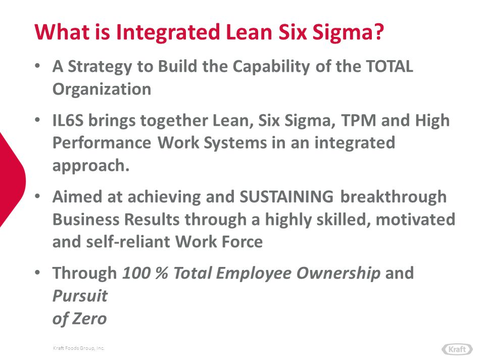 What is Integrated Lean Six Sigma