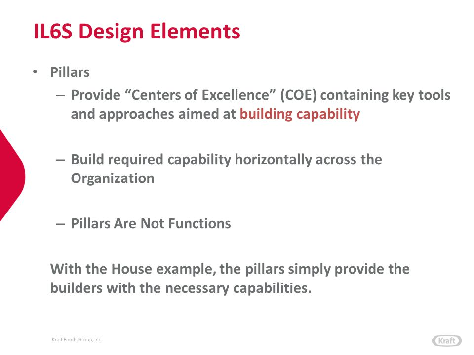 IL6S Design Elements Pillars