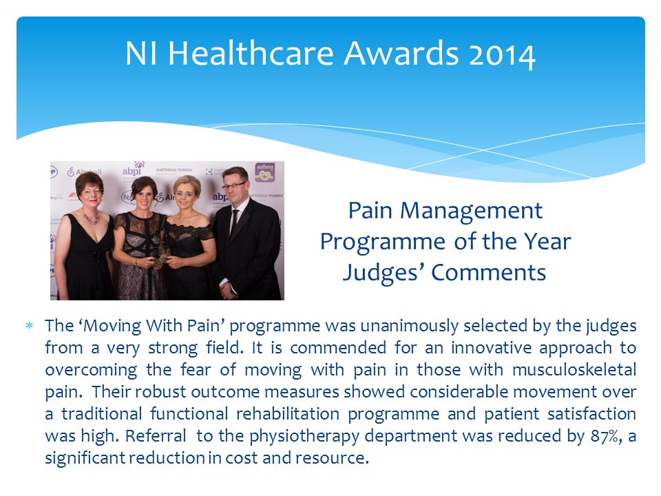 Pain Management Programme of the Year