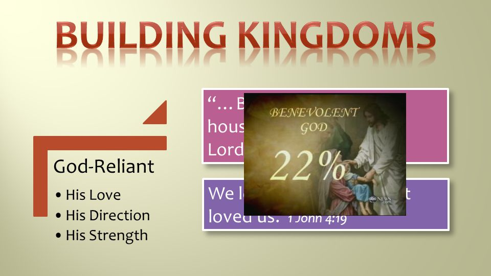 Building Kingdoms Sacrificial Love Truth-Based God-Reliant