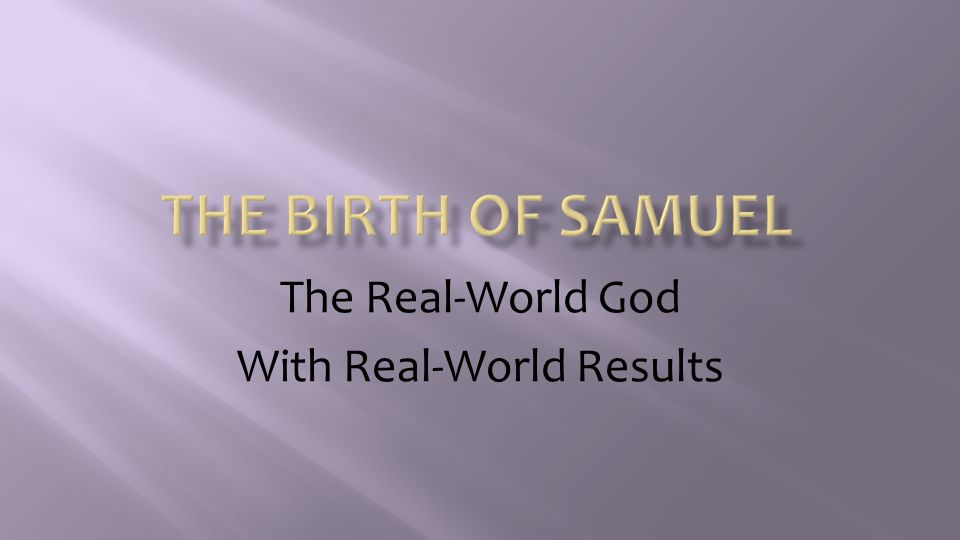 The Real-World God With Real-World Results