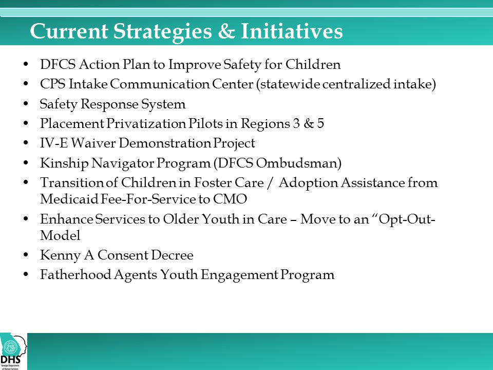 Current Strategies & Initiatives