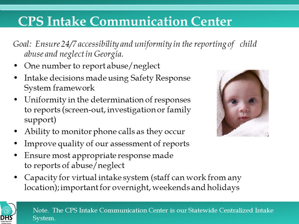 CPS Intake Communication Center