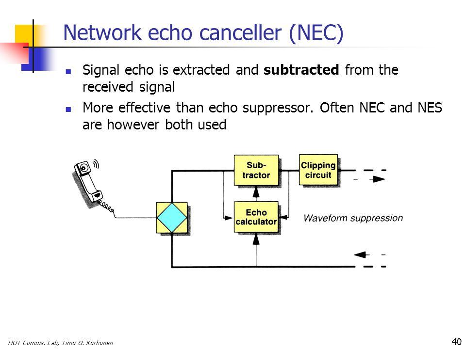 Network echo canceller (NEC)