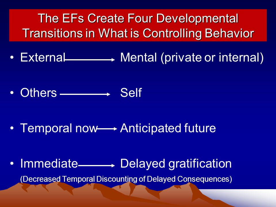 External Mental (private or internal) Others Self