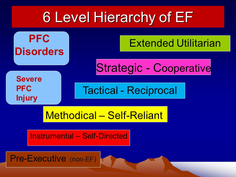 6 Level Hierarchy of EF Strategic - Cooperative PFC
