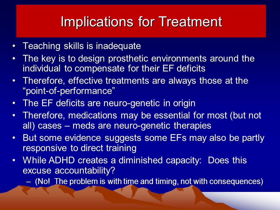 Implications for Treatment