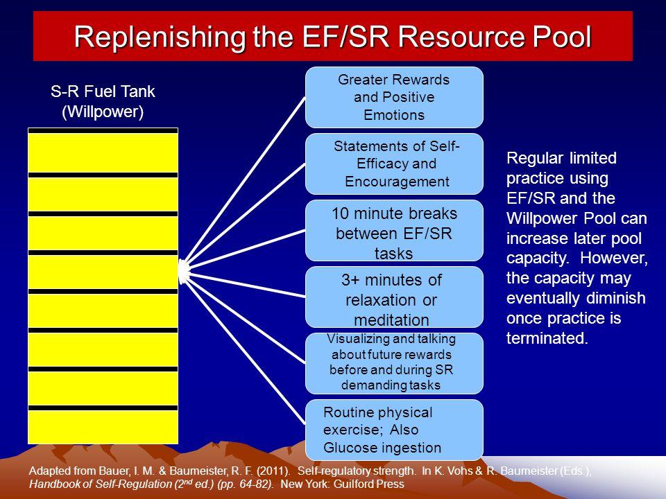 Replenishing the EF/SR Resource Pool
