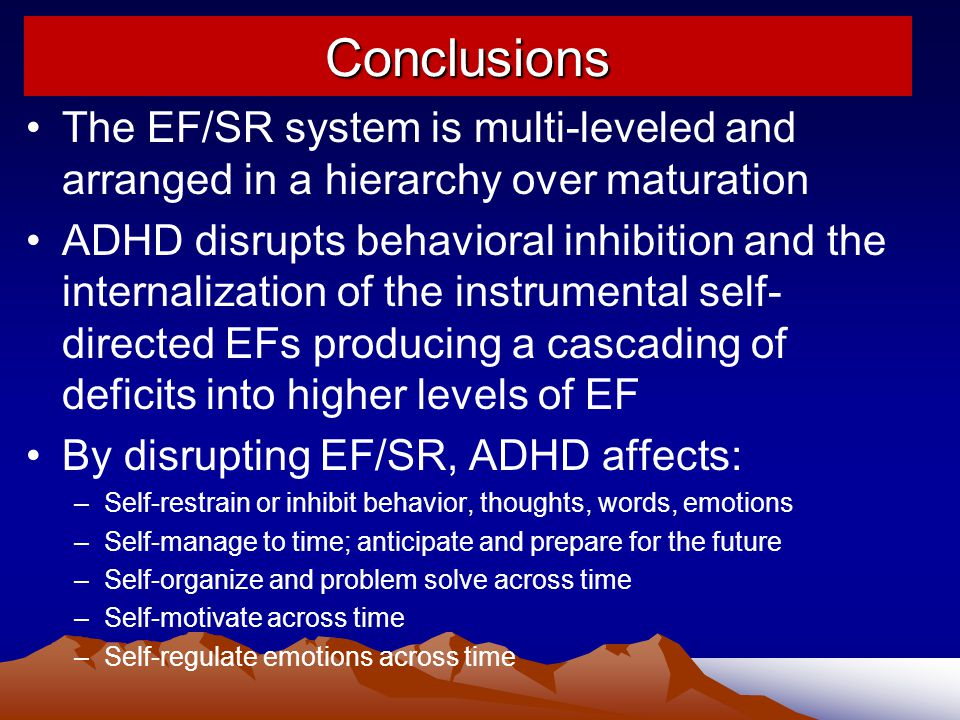 Conclusions The EF/SR system is multi-leveled and arranged in a hierarchy over maturation.