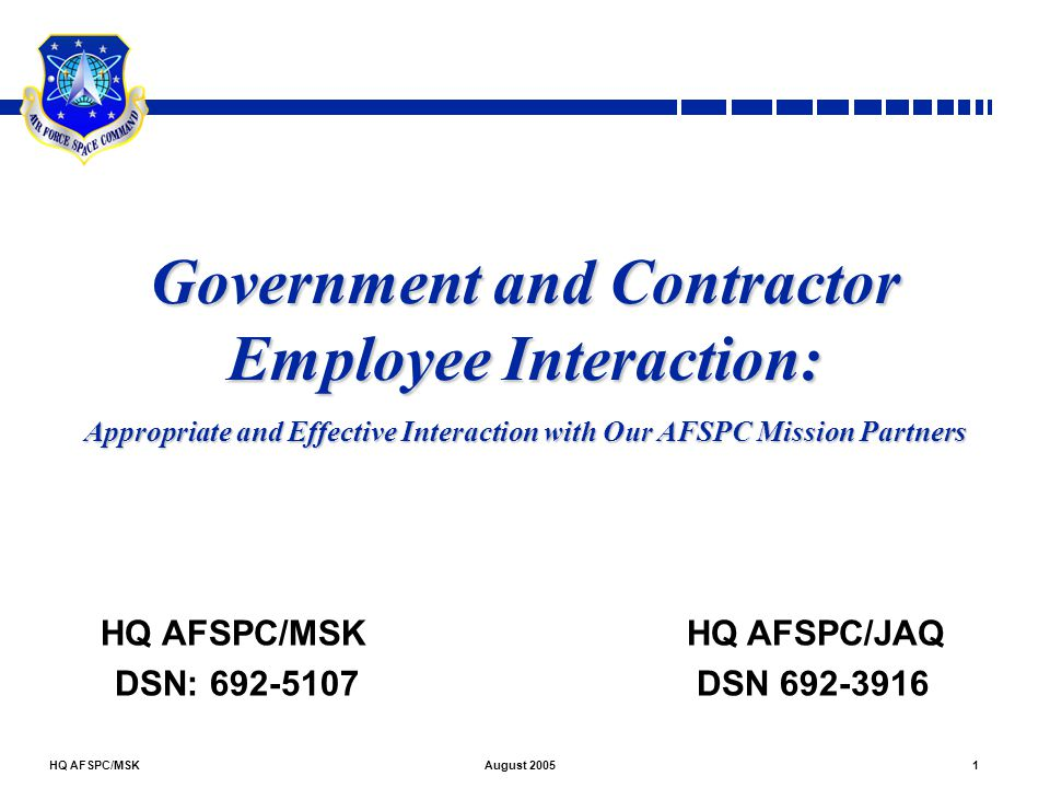 Government and Contractor Employee Interaction: