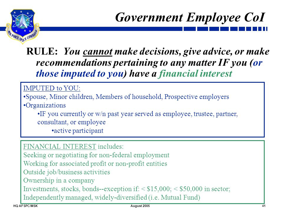 Government Employee CoI