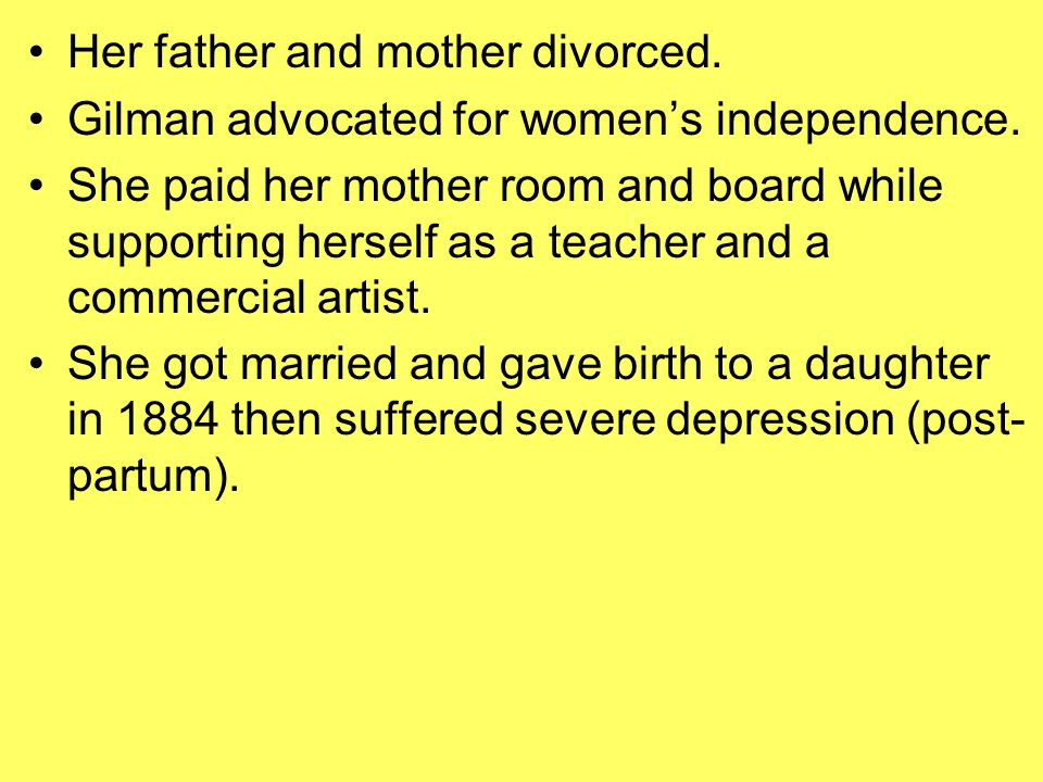 Her father and mother divorced.