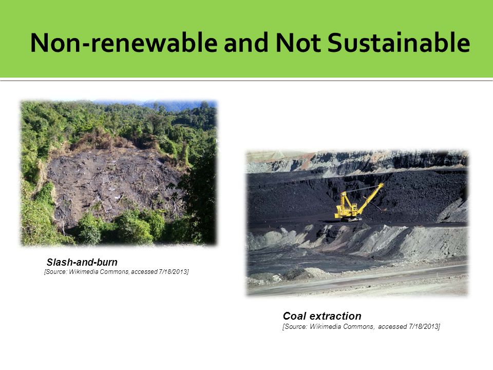 Non-renewable and Not Sustainable