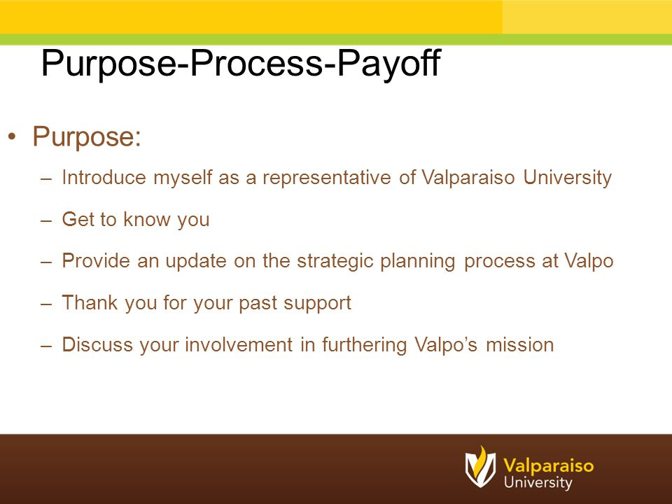 Purpose-Process-Payoff