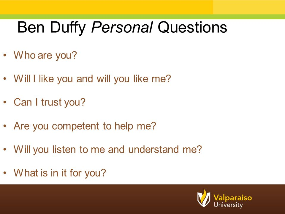 Ben Duffy Personal Questions