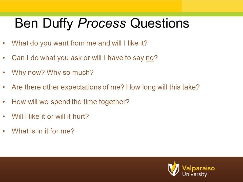 Ben Duffy Process Questions