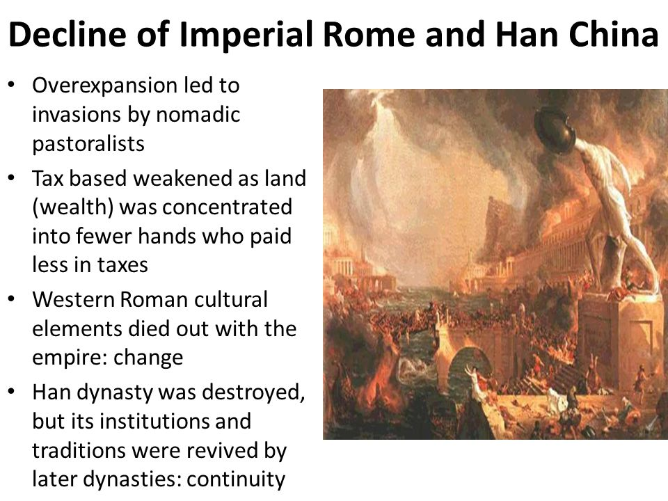 Decline of Imperial Rome and Han China