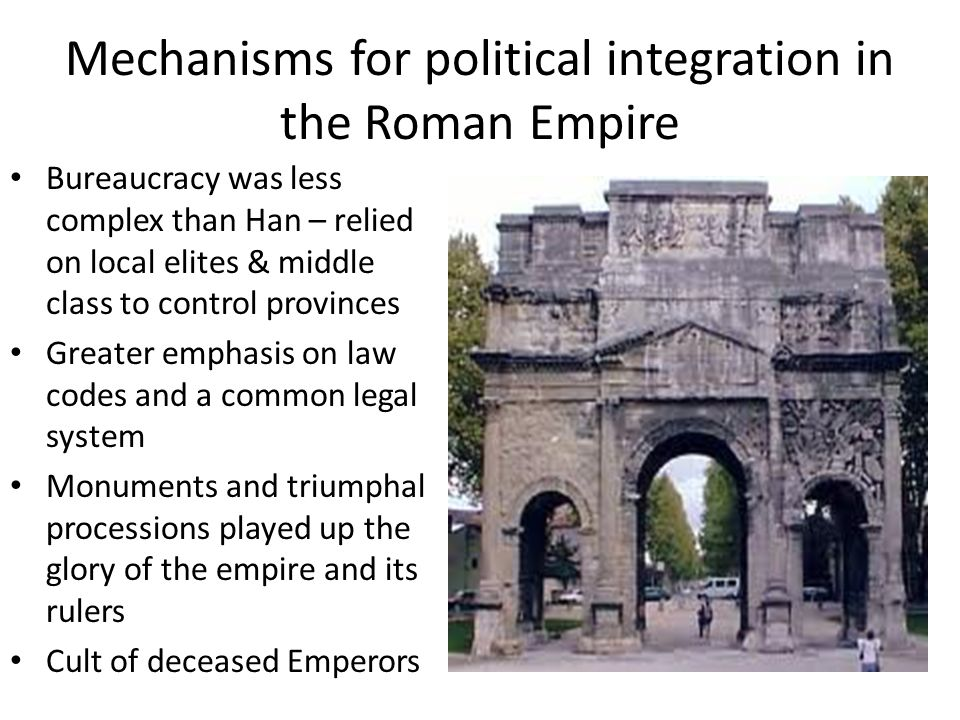 methods of political control between imperial rome and han china Roman empire and han dynasty a short comparison ap world history.