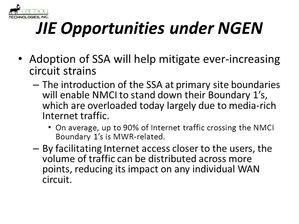JIE Opportunities under NGEN