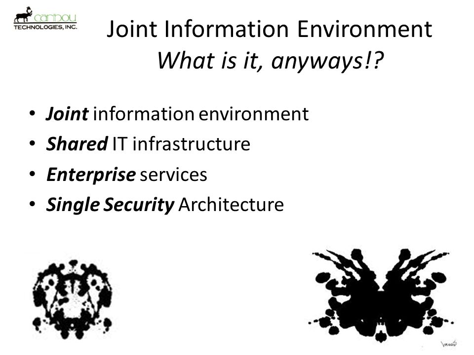 Joint Information Environment What is it, anyways!