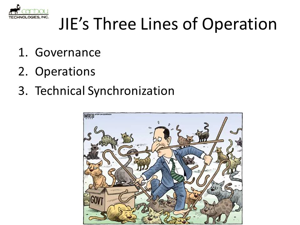 JIE's Three Lines of Operation
