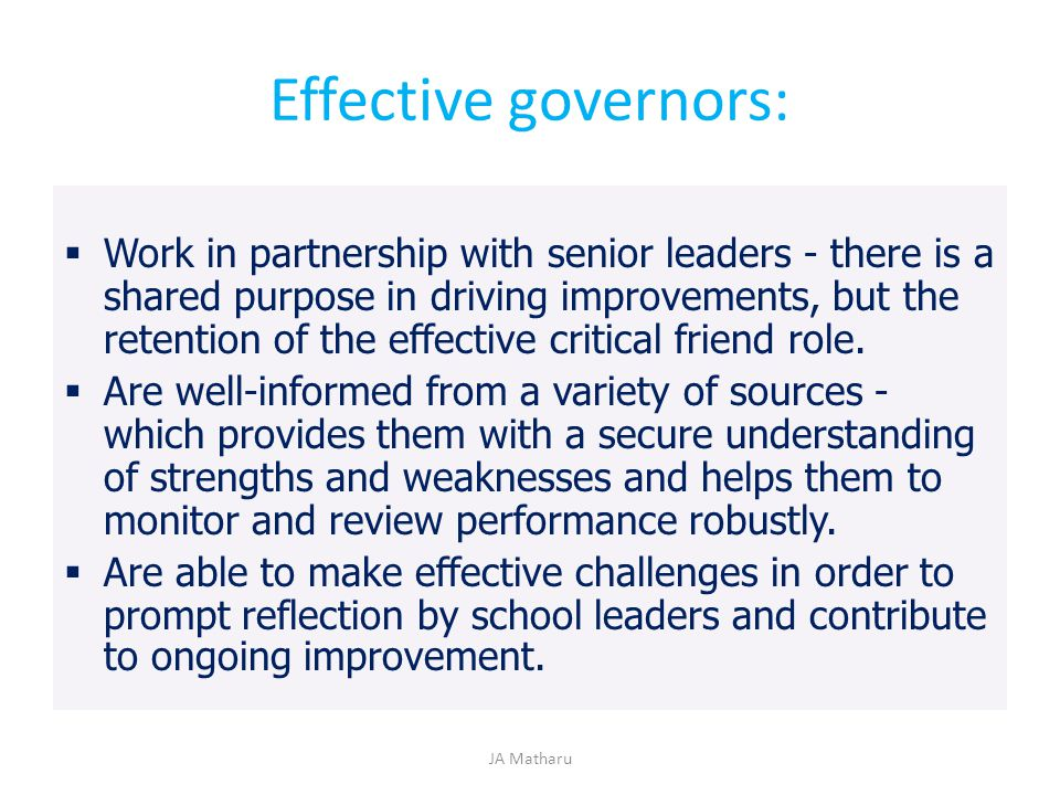 Effective governors: