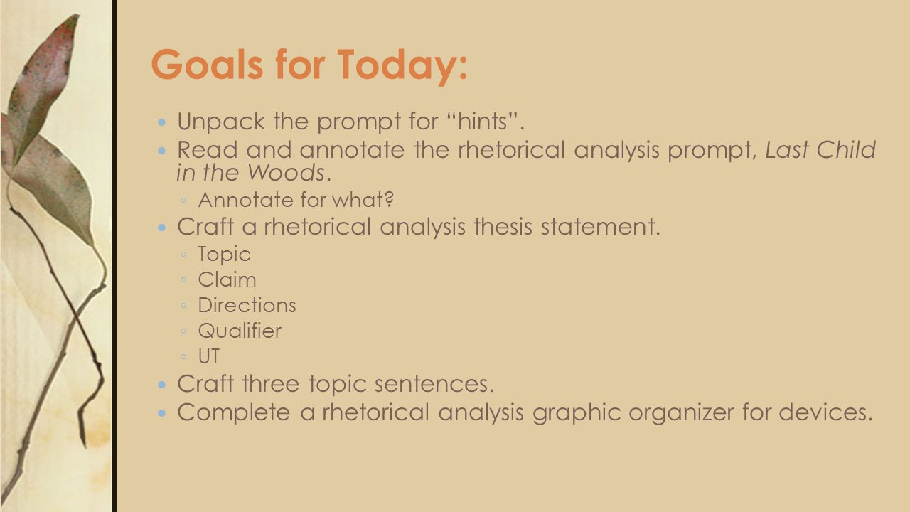 ap rhetorical analysis thesis Time-saving lesson video on rhetorical analysis practice with clear explanations and tons of step-by-step examples start learning today.